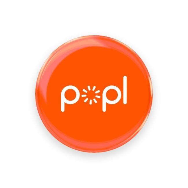بوبل مشاركة مواقع التواصل والمعلومات بسرعة - برتقالي