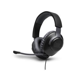 سماعة الألعاب JBL موديل كوامنتوم  100 على الأذن سلكية مع ميكروفون - أسود