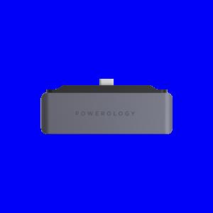باورولوجي موزع 4 في 1 USB-C مع HDMI USB AUX